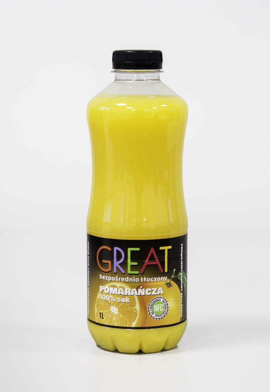 Great Sok Pomarańcza 100% NFC 1L