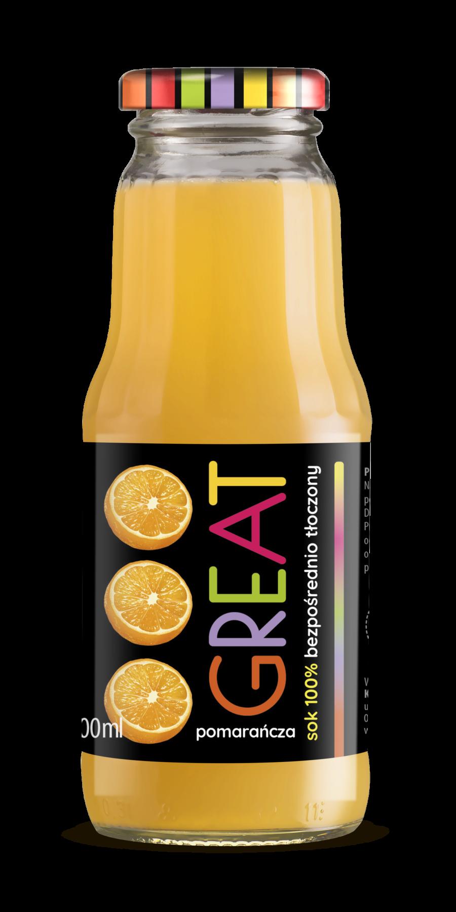 GREAT sok pomarańczowy